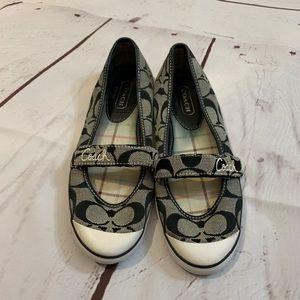 Coach Signature Flats Women's Shoes